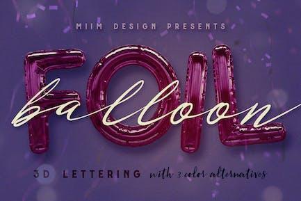 Foil Balloon - 3D Lettering