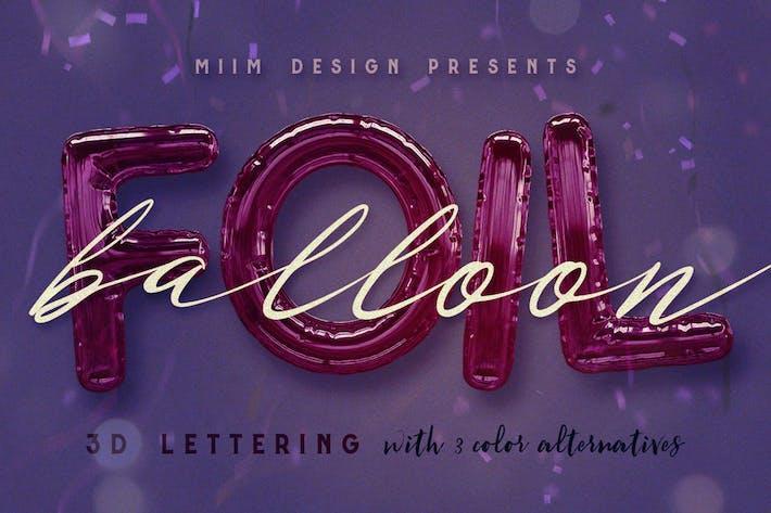 Thumbnail for Foil Balloon - 3D Lettering