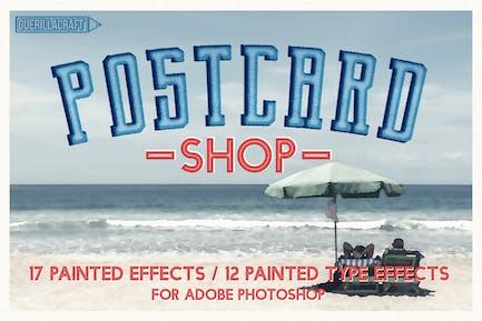 Postcard Shop for Adobe Photoshop