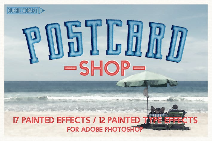 Thumbnail for Postcard Shop for Adobe Photoshop