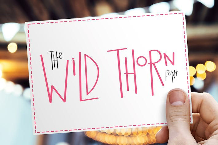 Cover Image For Wild Thorn Font