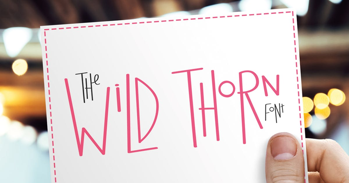 Wild Thorn Font by maroonbaboon