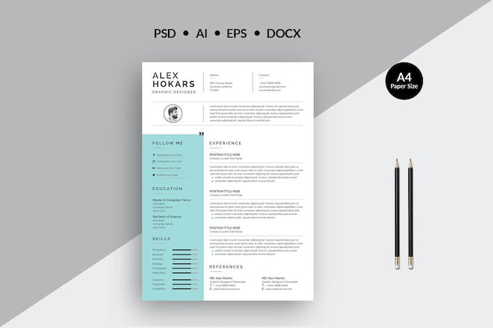 Thumbnail for Resume Template 45