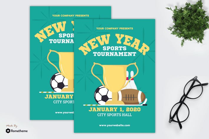 Thumbnail for New Year Sports Tournament - Flyer GR