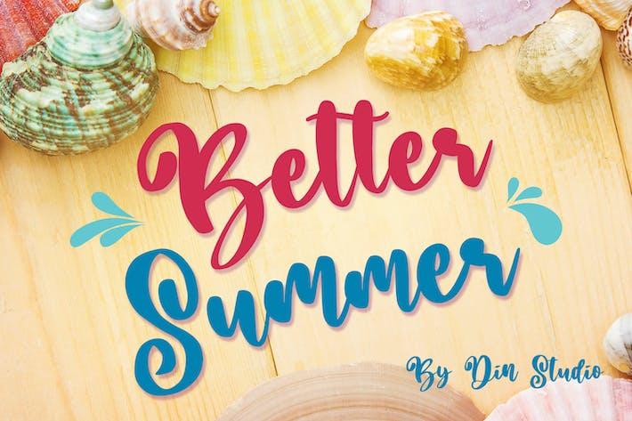 Thumbnail for Better Summer Script Font
