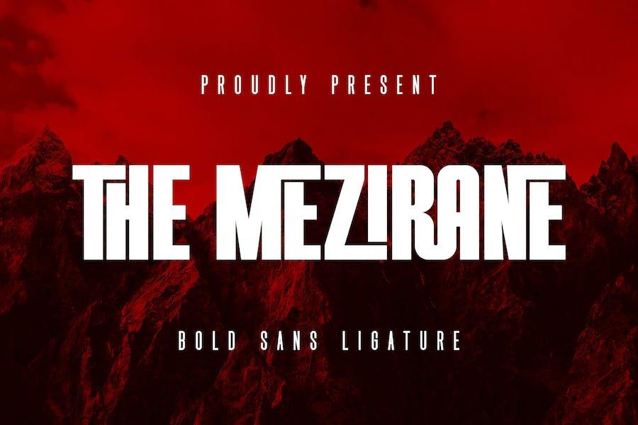 The Mezirane - Bold Sans Ligature