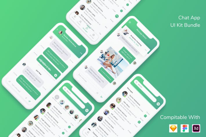 Thumbnail for Chat App UI Kit Bundle