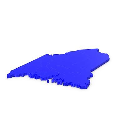 Карта округов Мэн