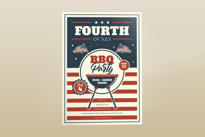 Thumbnail for Fourth of July Flyers - BBQ Party