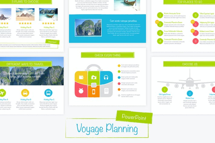 Cover Image For Voyage PowerPoint Template