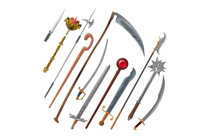Thumbnail for Set of Different Weapons