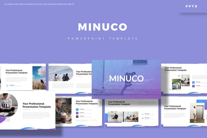 Cover Image For Minuco - Powerpoint Template