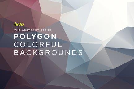 Abstrakte Polygon-Hintergründe V5