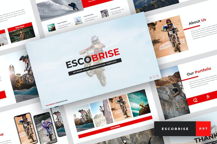 Thumbnail for Escobrise - Extreme Sport PowerPoint Template