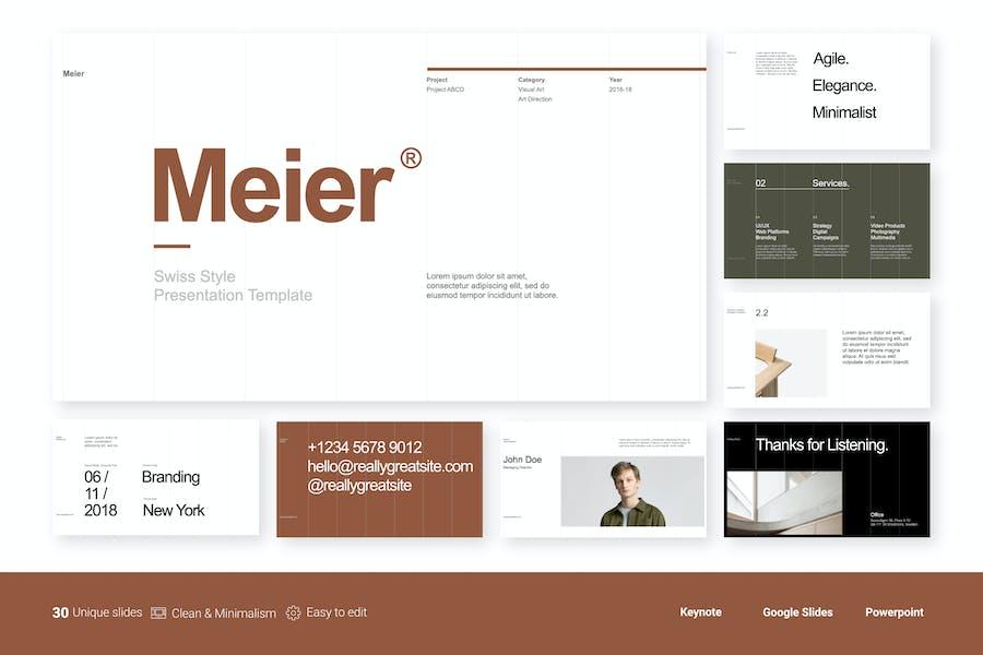 Meier - Шаблон чистой бизнес-презентации