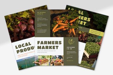 Farmers Produce Flyer Set