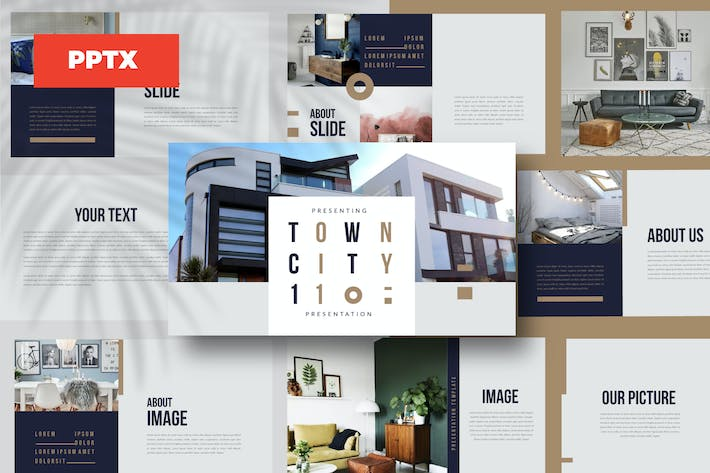 Thumbnail for TOWN - Powerpoint template