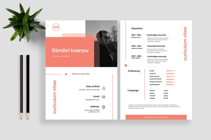 Thumbnail for Resume / CV Template 15