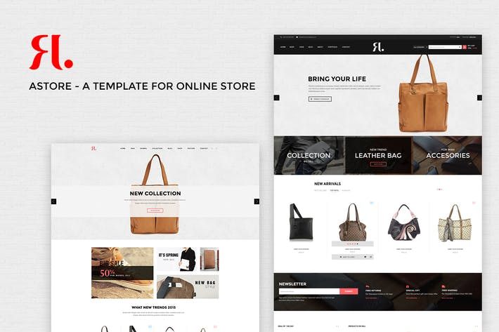Thumbnail for A-Store - Ecommerce PSD Template