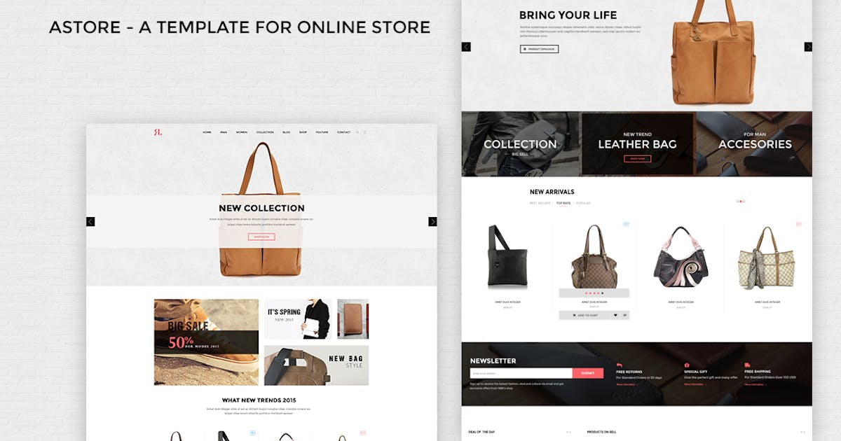 Download A-Store - Ecommerce PSD Template by Unknow