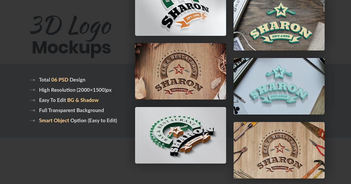 Download 3D Multipurpose Logo Mockups by HTMLguru
