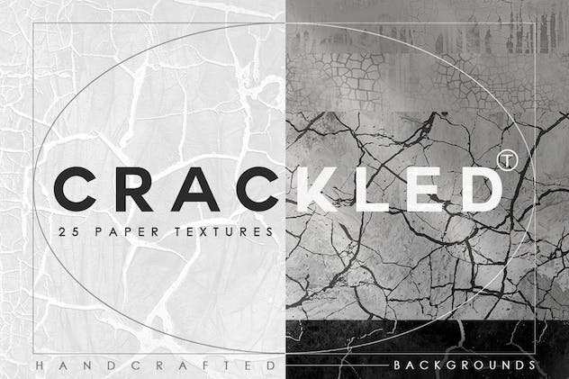 Abstract Crackled Paper Textures