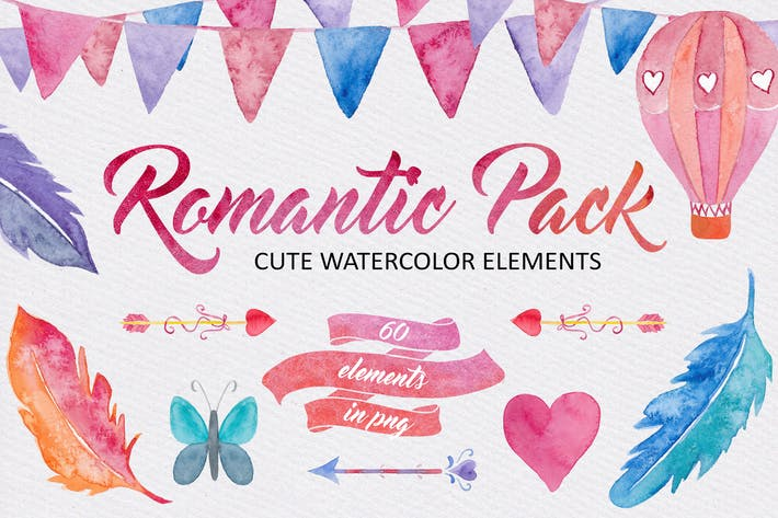 Thumbnail for Watercolor Romantic Pack