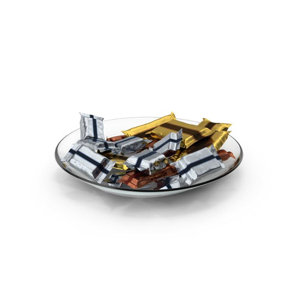 Plate with Wrapped Candy Bars