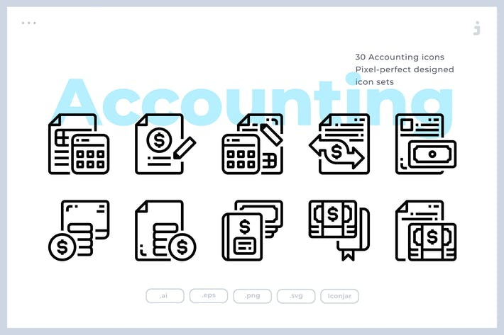 Thumbnail for 30 Accounting Icons