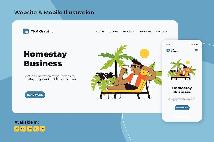 Relaxing in homestay web and mobile