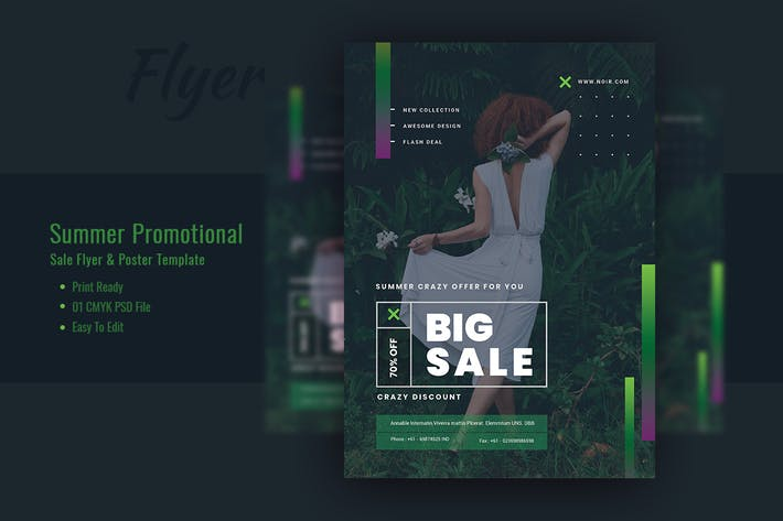 Thumbnail for Summer Promotional sales Flyer & Poster Template