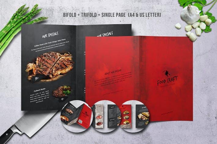 Thumbnail for Craft Food Menu Bundle US Letter & A4