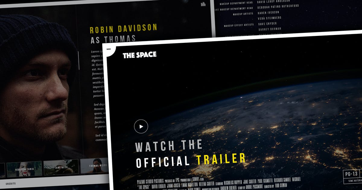 Download The Space - Single Film Campaign WordPress Theme by plazart