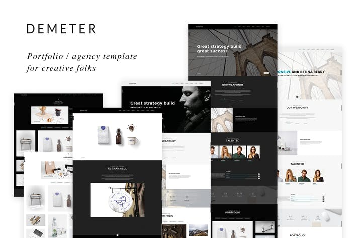 Thumbnail for Demeter - Creative HTML5 Template