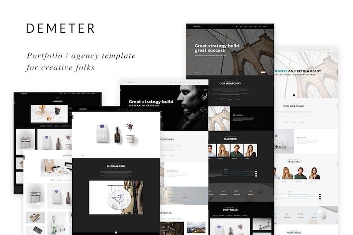 Thumbnail for Demeter - Modèle créatif HTML5