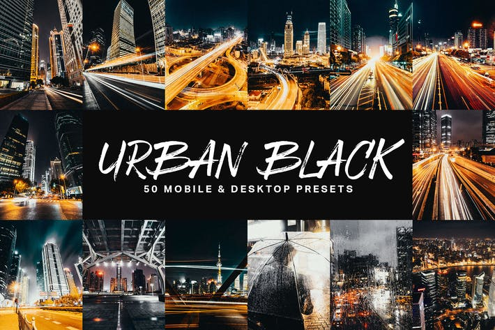 Thumbnail for 50 presets y LUTs Urban Black Lightroom