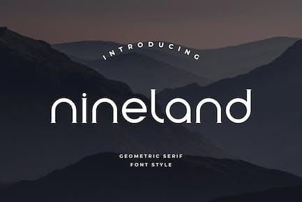 Nineland - Fuente geométrica moderna de Con serifa