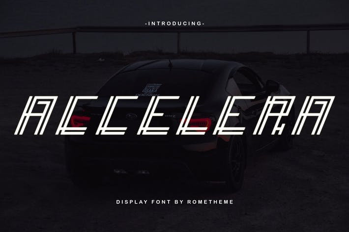 Thumbnail for Accelera - Display Font DR