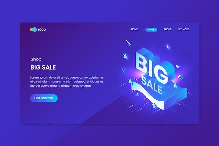 Thumbnail for Shop Big Sale Isometric Concept Landing Page