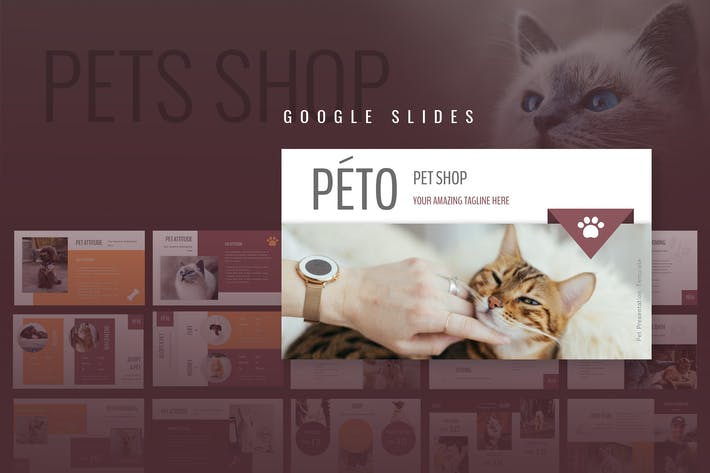 Thumbnail for Peto - Pet Shop Google Slides Presentation