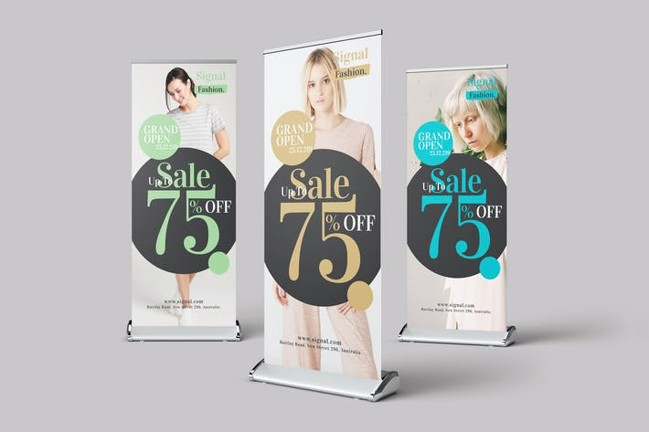 Thumbnail for Grand Opening Sale Roll Up Banner
