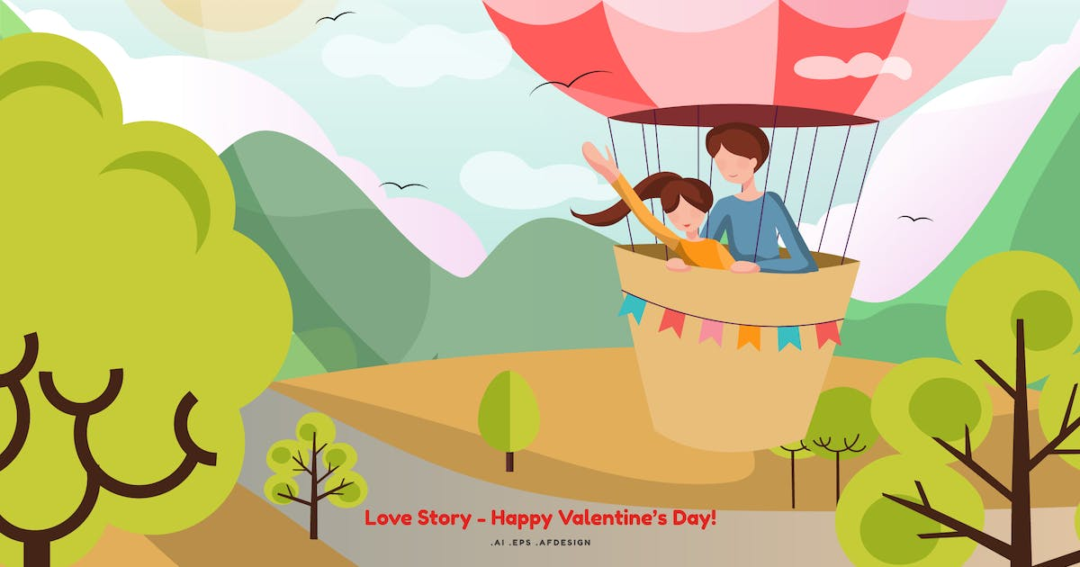 Download Love Story Vector Illustration by YummyDs