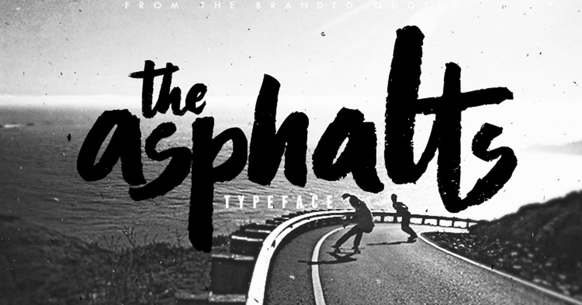 Download Asphalts Typeface by TheBrandedQuotes