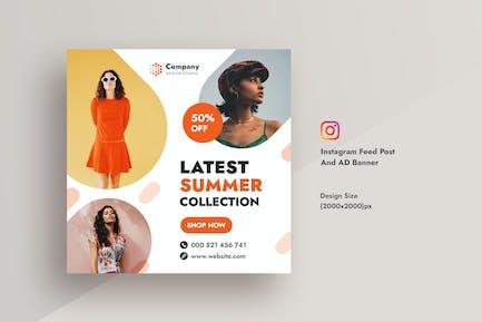 Summer Sale & Promotional Instagram AD Banner