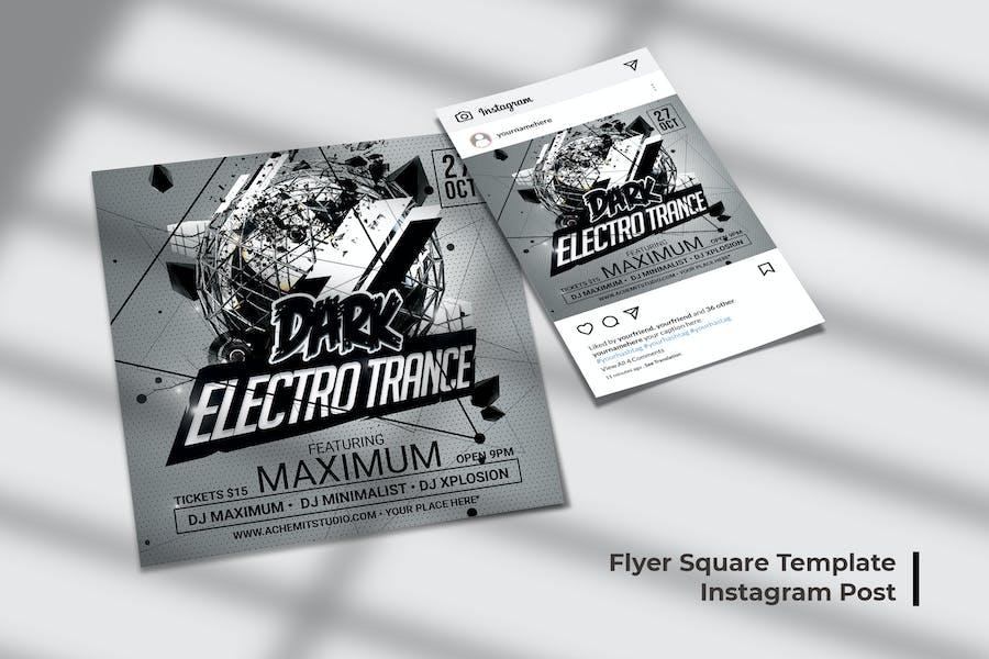 Electro DJ Flyer & Social Post
