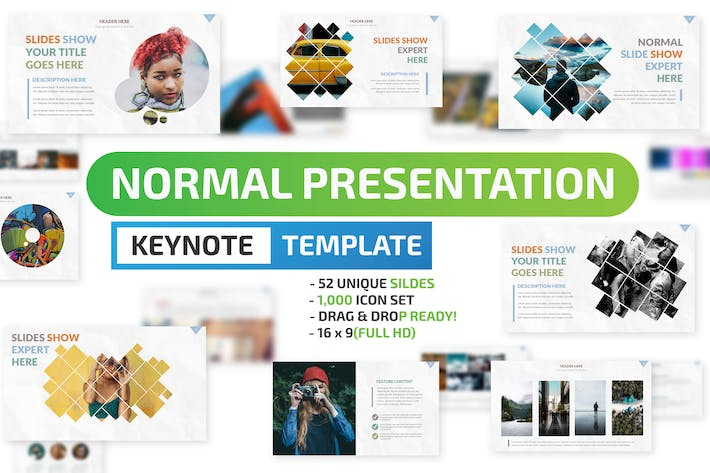 Thumbnail for Normal Keynote Presentation Template
