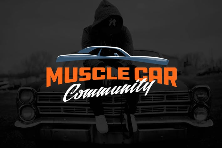 Thumbnail for Muscle Car Automotive Logo