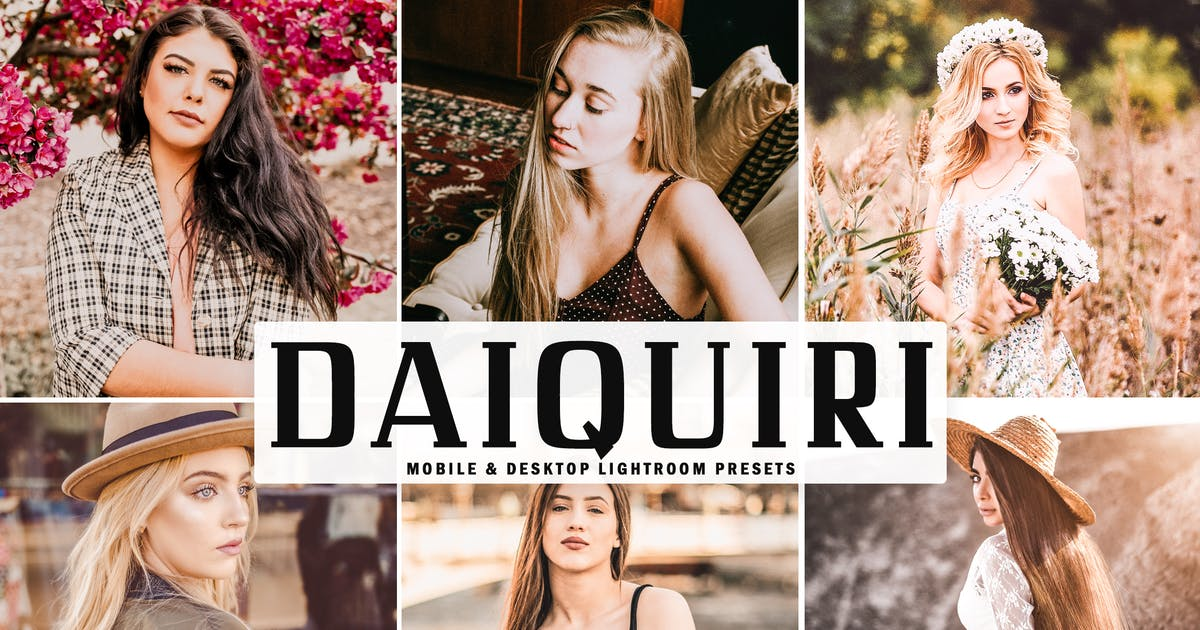 Download Daiquiri Mobile & Desktop Lightroom Presets by creativetacos