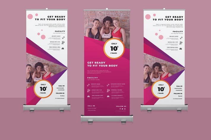 Thumbnail for Gym Roll-up Banner Promotion