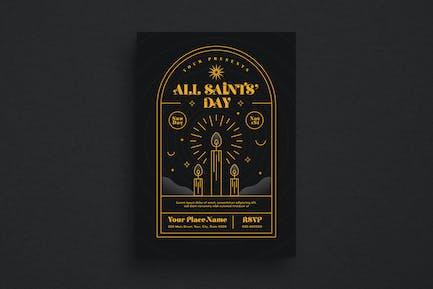 All Saint's Event Flyer